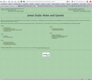 James Doyle's homepage. A truly old-school geek.